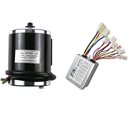 JCMOTO 36v 500w Brushed Speed Motor and Controller Set for